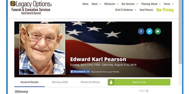 Edward Pearson is a U.S. Army veteran who died Aug. 31.