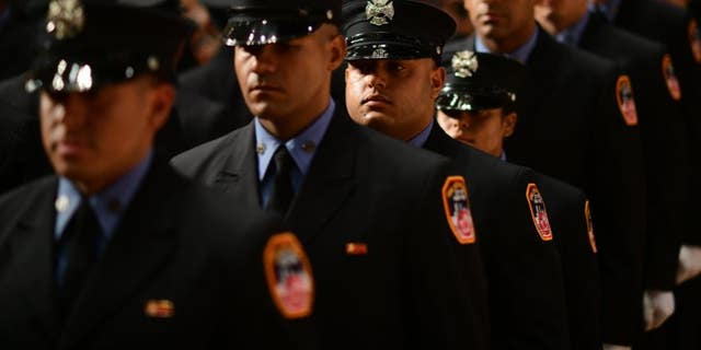 Graduates of the New York City Fire Department on Tuesday.