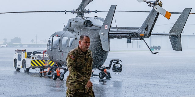 Florida National Guard soldiers and airmen preparing for potential missions responding to Hurricane Dorian. (Ching Oettel)