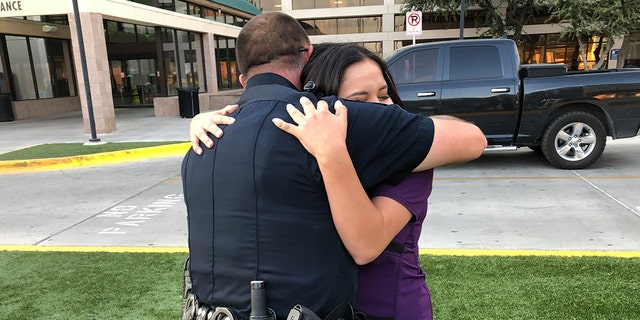 For Odessa (Texas) Police Corporal Gary Potter, Bria Montes' random act of kindness hit especially close to home. Porter revealed that his wife and daughter had been shot at while driving down 42nd Street but escaped the firestorm unscathed.