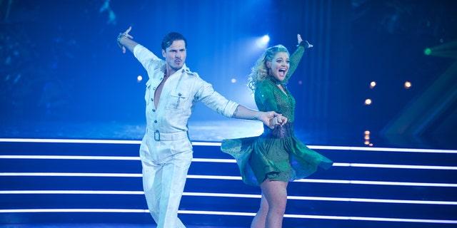 "Gleb Savchenko and Lauren Alaina on season 28 premiere of ""Dancing with the Stars."""