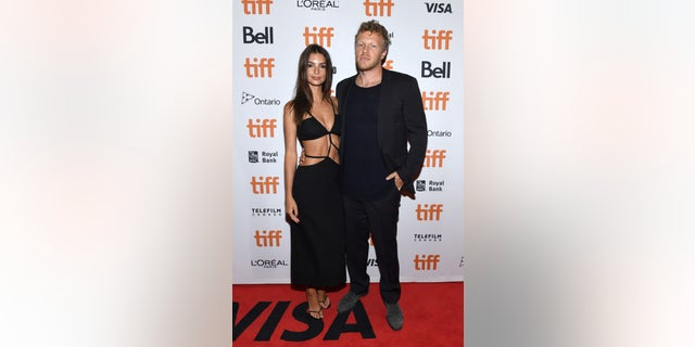 "Emily Ratajkowski and Sebastian Bear-McClard attend the ""Uncut Gems"" premiere during the 2019 Toronto International Film Festival at Princess of Wales Theatre on September 09, 2019 in Toronto, Canada."