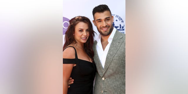 Britney Spears and Sam Asghari attend the 2019 Daytime Beauty Awards at The Taglyan Complex on Sept. 20, 2019 in Los Angeles.