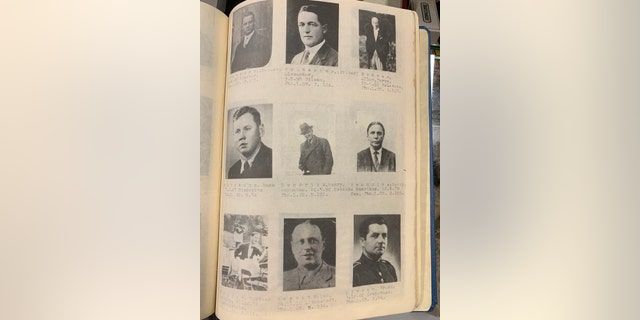 The plan contains photos of persons of interest, particularly foreign nationals who had fled the Nazis. (Henry Aldridge and Son)