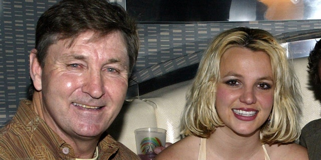 Britney Spears with her father Jamie, in Las Vegas.