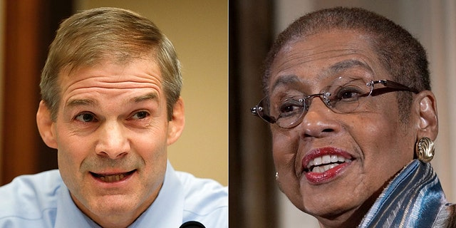 Ohio Rep. Jim Jordan, left, the top Republican on the House Oversight and Reform Committee, aired concerns about recent scandals involving D.C. city officials.Del. Eleanor Holmes Norton has sponsored a D.C. statehood bill.