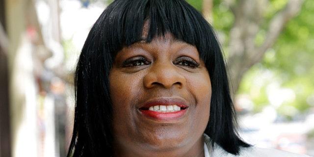 FILE- This May 14, 2014 file photo, Trenton City Council member Kathy McBride is seen in Trenton, N.J. (AP Photo/Mel Evans, File)