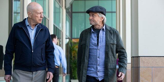 Alan Arkin and Michael Douglas from Netflix's 'The Kominsky Method.'