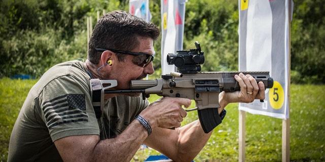 "Kris ""Tanto"" Paronto at one of his Battleline Tactical courses. (Courtesy of Kris Paronto)"