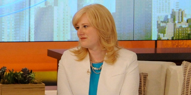 Kristine Barnett discussing autism during a live TV appearance.