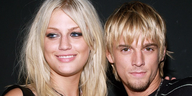 Leslie Carter and Aaron Carter pictured together in 2006. Leslie died at age 25 of a drug overdose in 2012.