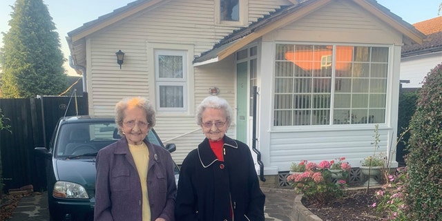 """Lilian """"Lil"""" Cox and Doris Hobday are Britain's oldest twins, having turned 95 on July 20."""