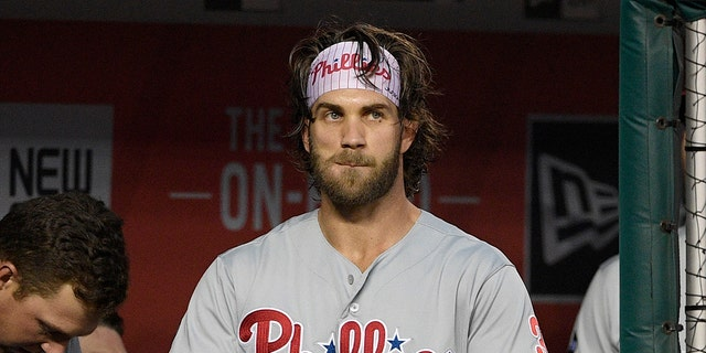 Philadelphia Phillies' Bryce Harper had the most lucrative contract in MLB history for about a month. (AP Photo/Nick Wass)