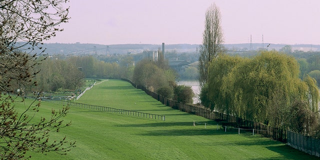 Ile-de-France: Yvelines, the racetrack at Maisons-Laffitte. The racetrack is the second largest one in France, after the one in Chantilly. (Photo by Catherine BIBOLLET/Gamma-Rapho via Getty Images)