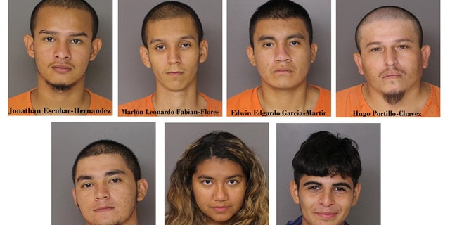The suspects in the killing of Daniel Alejandro Alvarado Cuellar.
