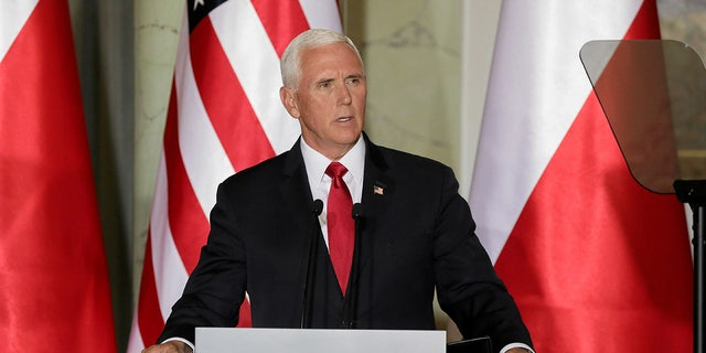 U.S. Vice President Mike Pence speaks during a press conference in Warsaw, Poland September 2, 2019. Slawomir Kaminski/Agencja Gazeta via REUTERS