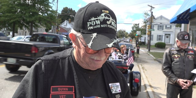Veteran Quinn Morey showed up at the hearing Wednesday in support of keeping the Bible at the VA hospital.