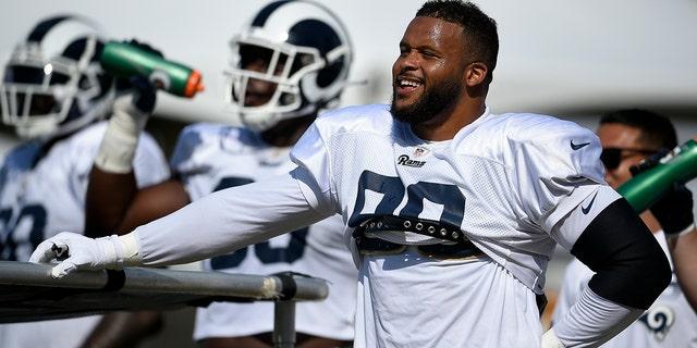 Aaron Donald anchors the Rams' defense. (AP Photo/Kelvin Kuo, File)