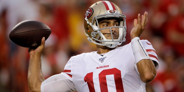 San Francisco quarterback Jimmy Garoppolo needs to be healthy for the 49ers this season. (AP Photo/Charlie Riedel, File)