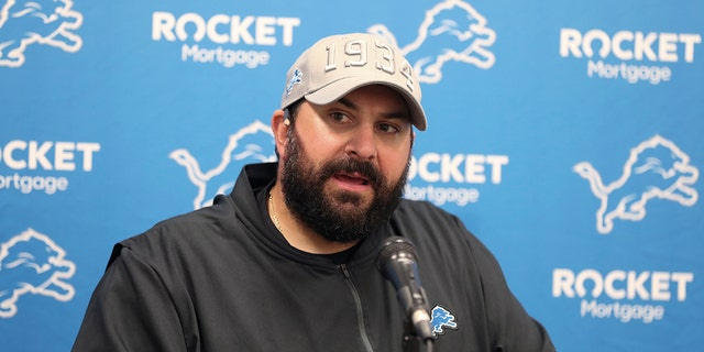 Detroit Lions coach Matt Patricia speaks during a news conference after the team's NFL preseason football game against the Cleveland Browns, on Aug. 29, 2019, in Cleveland. (AP Photo/Ron Schwane)