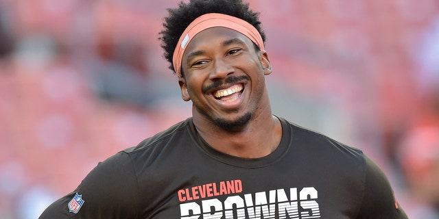 Myles Garrett is returning from suspension and hungry for another stellar season. (AP Photo/David Richard, File)