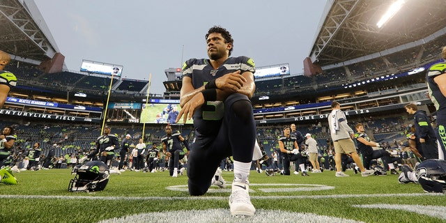 Seattle Seahawks quarterback Russell Wilson signed a contract extension in the offseason. (AP Photo/Elaine Thompson)