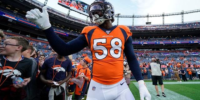 The Denver Broncos' defense is led by Von Miller (AP Photo/Jack Dempsey)