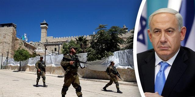 Israeli forces members patrol before a visit by Israeli Prime Minister Benjamin Netanyah, in Hebron in the Israeli-occupied West Bank September 4, 2019.