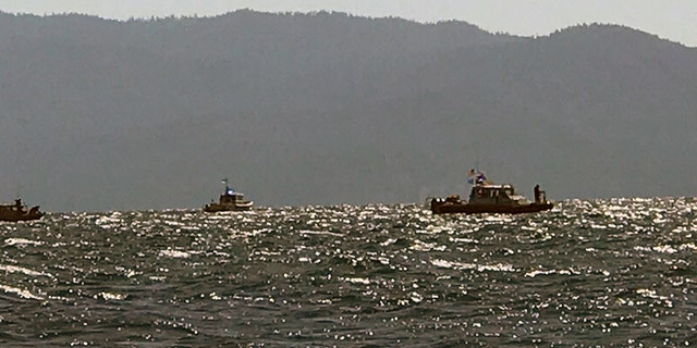 Rescue boats search the water for Sayen Sengupta