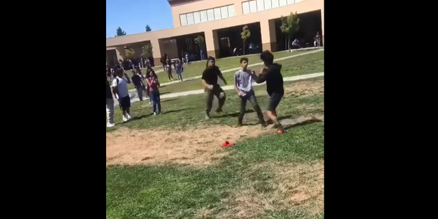 Westlake Legal Group Pre-impact California Marine filmed violently tackling two brawling students to the ground Melissa Leon fox-news/us/us-regions/west/california fox-news/us/military/marines fox-news/us/military fox-news/us/education/high-school fox news fnc/us fnc c5fa5019-c773-545f-963e-42f11f4fa6b1 article