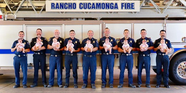 Westlake Legal Group RCFD-Babies-1 California fire department welcomes 9 babies in 5 months fox-news/us/us-regions/west/california fox-news/us/personal-freedoms/proud-american fox-news/tech/topics/viral fox-news/health/reproductive-health/pregnancy fox-news/health/healthy-living/childrens-health fox-news/good-news fox news fnc/health fnc article Alexandria Hein 4047a402-1536-5eef-9767-c4cafbf017c1