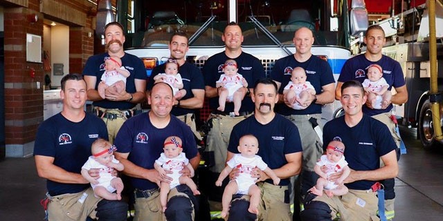 Westlake Legal Group RCFD-Babies-4 California fire department welcomes 9 babies in 5 months fox-news/us/us-regions/west/california fox-news/us/personal-freedoms/proud-american fox-news/tech/topics/viral fox-news/health/reproductive-health/pregnancy fox-news/health/healthy-living/childrens-health fox-news/good-news fox news fnc/health fnc article Alexandria Hein 4047a402-1536-5eef-9767-c4cafbf017c1