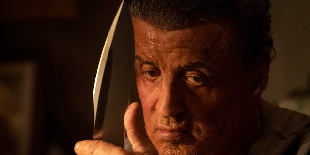 "This image released by Lionsgate shows Sylvester Stallone as John Rambo in a scene from ""Rambo: Last Blood."""