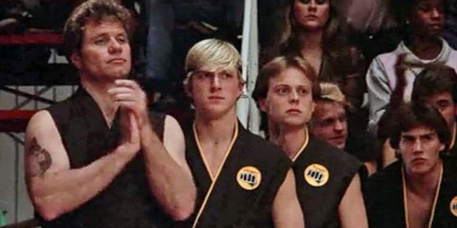 """Karate Kid"" actor Robert Garrison, third from left, died Friday at age 59, according to reports."