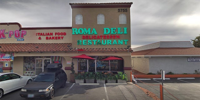 The alleged stabbing unfolded at a restaurant in Las Vegas.