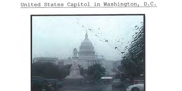 A photo of the U.S. Capitol allegedly snapped by Saab. (Court documents)