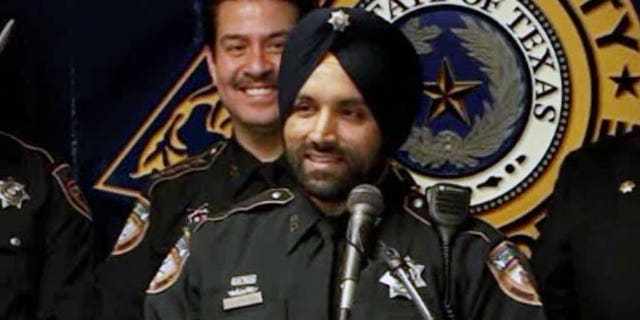 Harris County Sheriff's Deputy Sandeep Dhaliwal was shot from behind during a traffic stop and later died from his injuries. (Harris County Sheriff's Office)