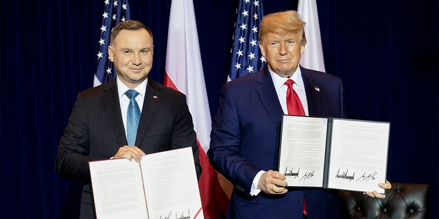 President Trump participates in a signing ceremony with Polish President Andrzej Duda Monday in New York City. (Official White House Photo by Joyce N. Boghosian)