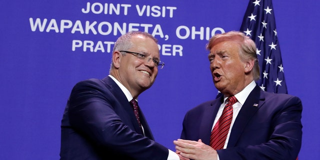 Westlake Legal Group Trump-Morrison-Ohio Trump visits Ohio factory with Australia's prime minister, touts economy Talia Kaplan fox-news/world/trade fox-news/us/us-regions/midwest/ohio fox-news/us/economy/jobs fox-news/travel/regions/australia fox-news/person/donald-trump fox news fnc/politics fnc b3e98f4a-757d-5fdc-a8b2-c1005ddd68ad article /FOX NEWS/WORLD/GLOBAL ECONOMY/Taxes