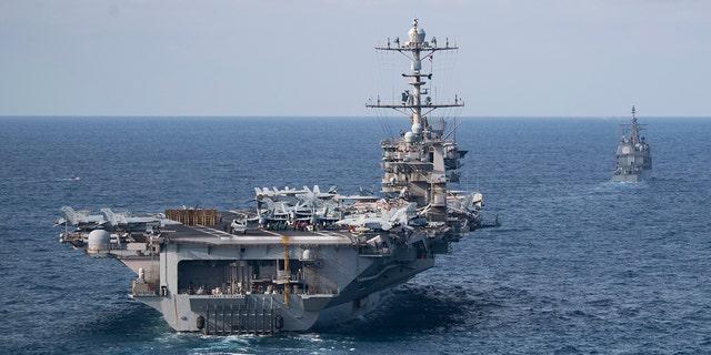 The Nimitz-class aircraft carrier USS Harry S. Truman.