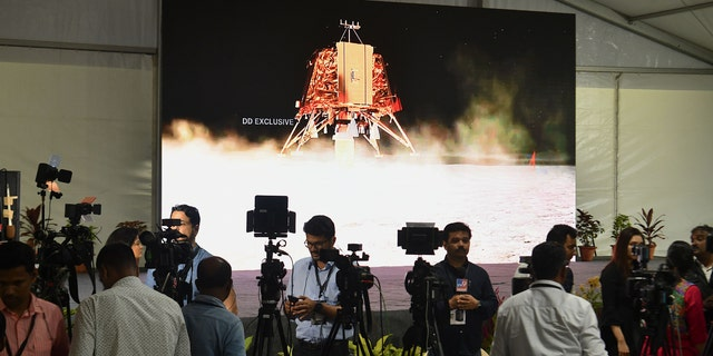 Members of the media at the ISRO Telemetry Tracking and Command Network (ISTRAC) facility in Bangalore, on September 6, 2019.