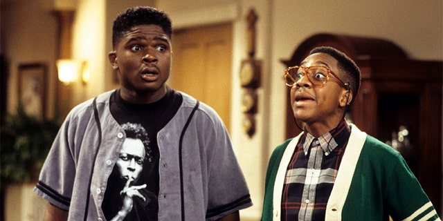 """Jaleel White (right) and Darius McCrary in """"Family Matters"""" circa 1993."""