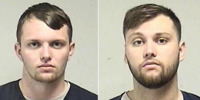 Wisconsin brothers Tyler Huffhines, on the left, and Jacob Huffhines are accused of operating a large THC vape cartridge empire.