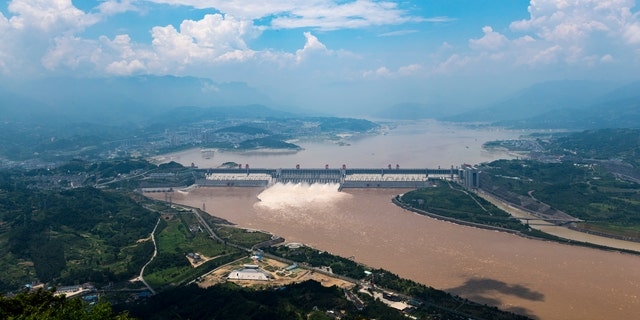 The Yangtze River flood peak passes Three Gorges Reservoir Area on July 15, 2018, in Yichang, Hubei Province of China. - file photo.