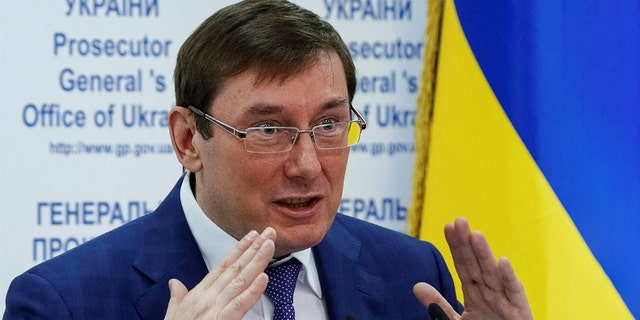 Yuri Lutsenko, seen here in May 2016, said he saw no evidence of wrongdoing by the Bidens.