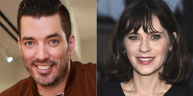 Jonathan Scott (L) was spotted on a date with Zooey Deschanel on Friday night.