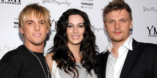 From l-r: Aaron Carter, Angel Carter and Nick Carter pictured together in 2006.