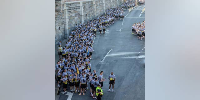 West Point cadets wait to run the Tunnel to Towers race in 2014. (Courtesy of Tunnel to Towers Foundation/Clare Photography)
