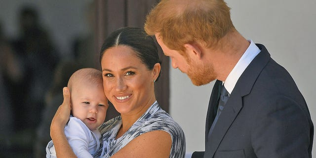 Prince Harry, Duke of Sussex and Meghan, Duchess of Sussex and their baby son, Archie Mountbatten-Windsor.