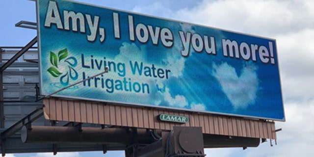Westlake Legal Group billboard-FOX23-WZTV Man declares love for wife on 8 local billboards: 'Amy, I love you more!' Janine Puhak fox-news/lifestyle/relationships fox-news/lifestyle fox news fnc/lifestyle fnc article 71116410-cfc0-58f4-85b2-88b72d5868c7